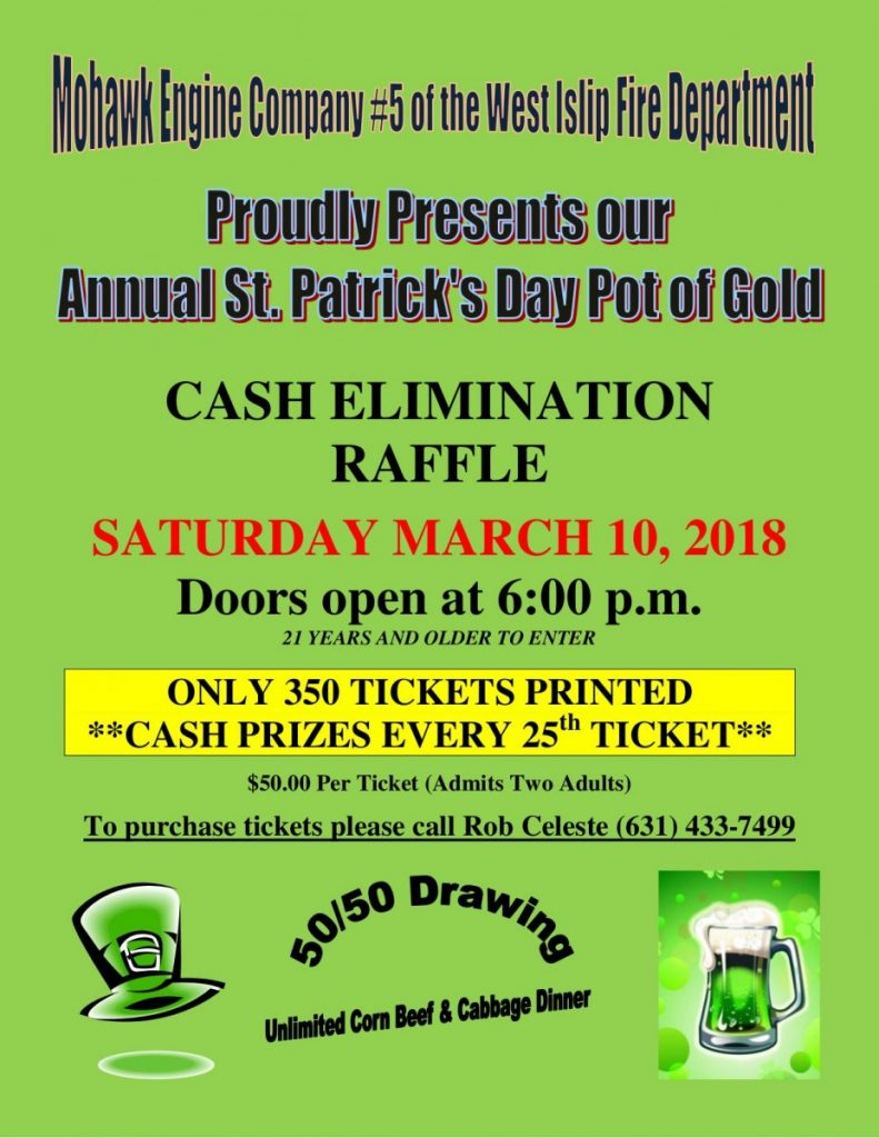 2018 St. Patrick's Day Pot of Gold!